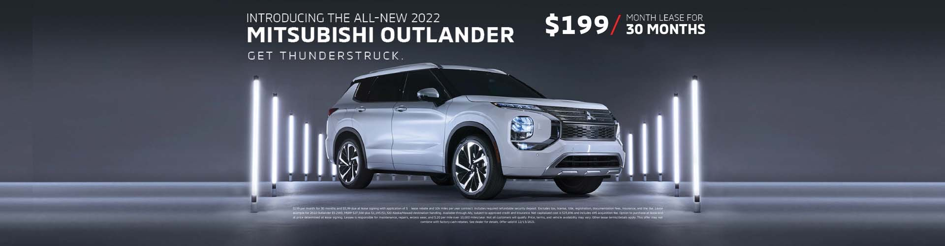 Lease the 2019 Mitsubishi Outlander PHEV for $199 per month.